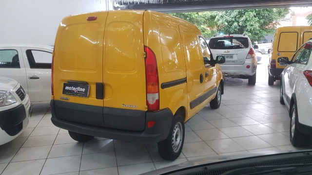 Renault Kangoo Express 1.6 Flex 2012 Amarela Porta Lateral Únido Dono Doc OK - Foto 4