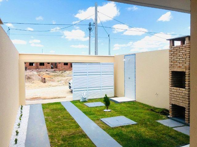 WS casa nova com 3 quartos,2 banheiros,coz.americana,quintal com otima localização - Foto 4
