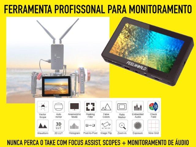 Monitor Feelworld F6 Plus Novo HDMI 4k e tela 1080p - Foto 2