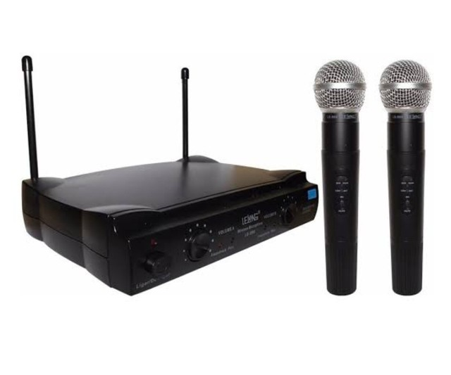 Microfone profissional SEM FIO 2 bastoes completo UHF - Foto 3