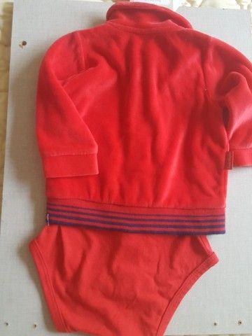 Casaco body plush vermelho - Foto 3