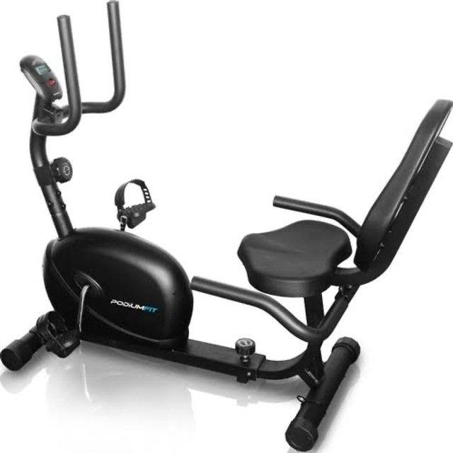 Bike Ergométrica Horizontal Podiumfit h100 até 130kg - Foto 2