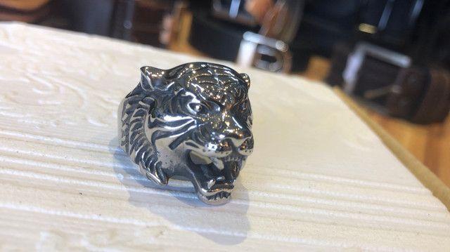 Anel de Aço Inoxidável - Leopardo - Foto 5