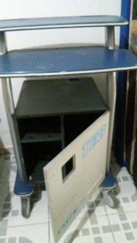 Gabinete para computador e CPU com rodinhas e  travas  - Foto 2