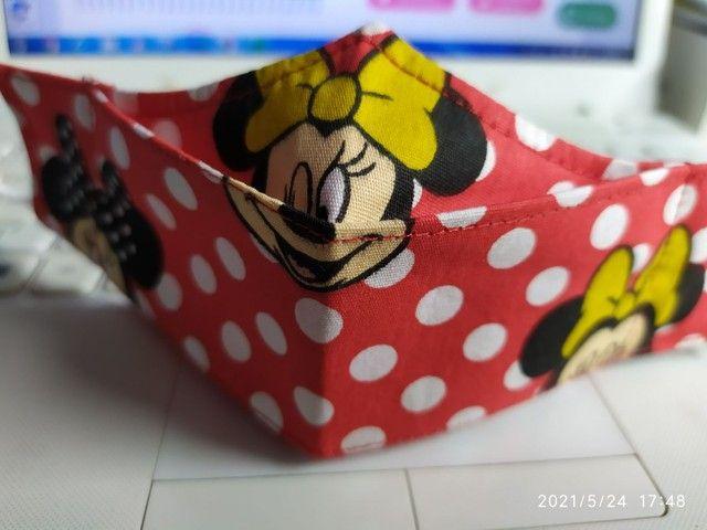 Máscaras 3D triplas com clip nasal - Foto 4