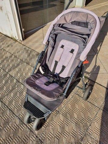 carrinho de bebê - marca abc design - cinza - otimo estado - Foto 5