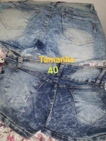 Shorts-Saias jeans todos NOVOS.<br>OBSERVE Confecção Pequena. São lindas aproveitem. - Foto 2