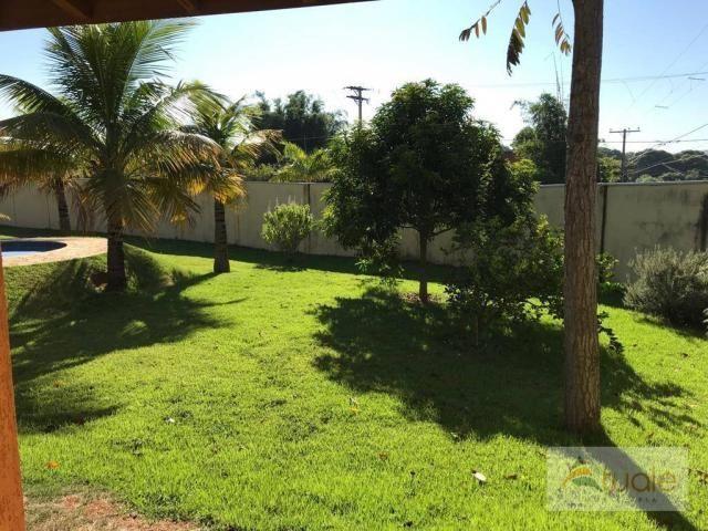 Chácara com 6 dormitórios para alugar, 1354 m² por r$ 5.000,00/mês - chácara recreio alvor - Foto 4
