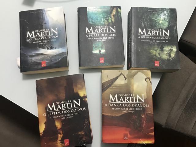 5f13acc0a Coleção 5 livros - Game of Thrones - As Crônicas de Gelo e Fogo ...