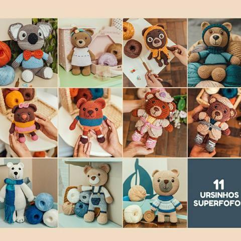 Ursinho de crochê azul - Comprar em Marmelo Doce | 480x480