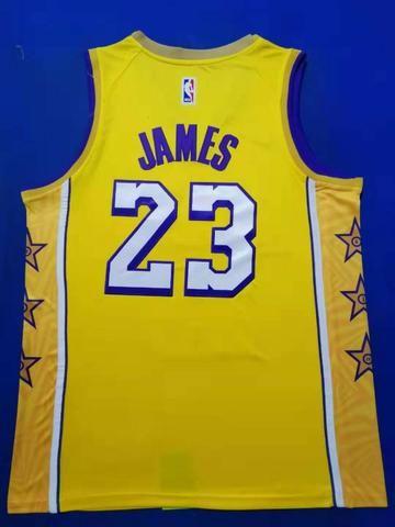 Regata basquete lakers amarela 23 james - Foto 3