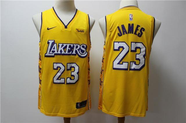Regata basquete lakers amarela 23 james