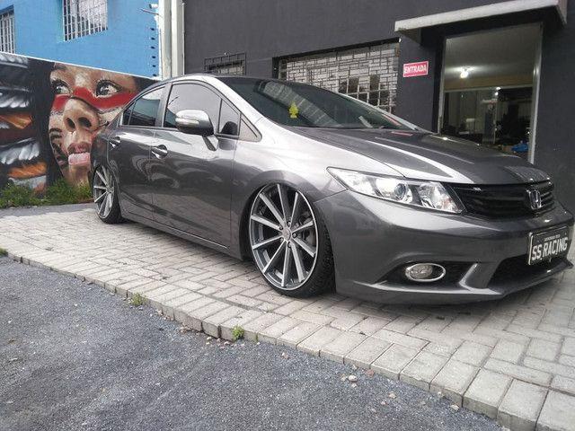 Honda Civic LXR 2.0 Aro 20 + susp a Ar troca maior valor  - Foto 2