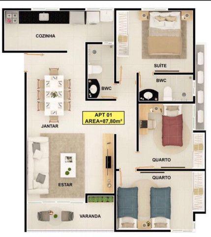 Apartamento bem localizado no Bairro Jardim Cidade Universitária - Foto 8