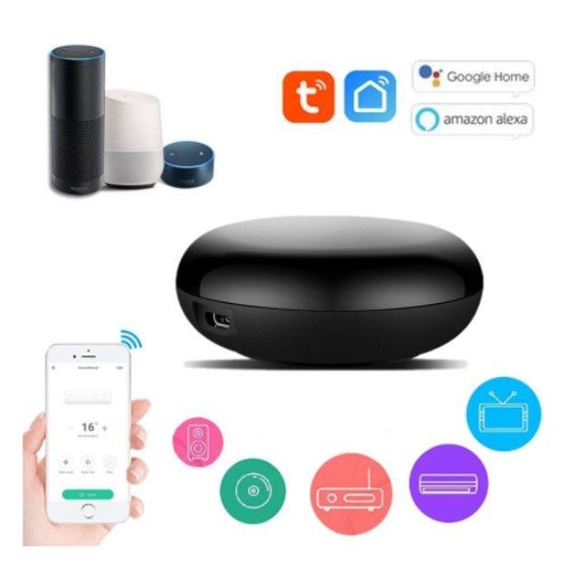 Controle Remoto Smart Sem Fio Wifi Tuya Infravermelho - Para Alexa ou Google Assistente