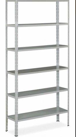Estante/ Armário de aço cinza 30cm 6 bandejas Multi-uso