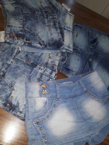 Shorts-Saias jeans todos NOVOS.<br>OBSERVE Confecção Pequena. São lindas aproveitem. - Foto 6