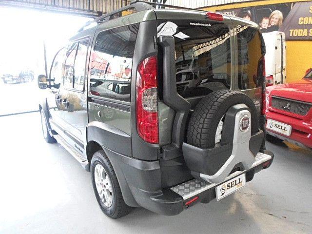 Fiat - Doblo Adventure Xingu 2013 Verde 6 Lugares Completo - Foto 12
