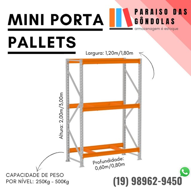 Mini porta pallets - Foto 3