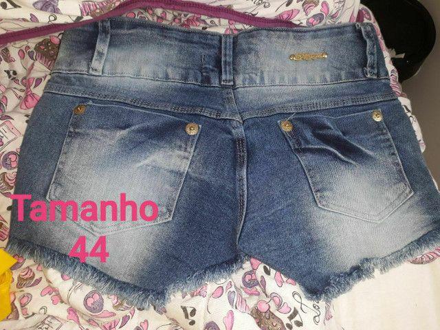 Shorts-Saias jeans todos NOVOS.<br>OBSERVE Confecção Pequena. São lindas aproveitem. - Foto 3