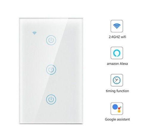 Interruptor 3 Canais Smart WiFi / Acesso Remoto / Compatível com Alexa e Google Assistente