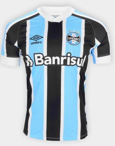 Queima de Estoque Camisa Tricolor do Grêmio 21/22 na Etiqueta nos tam M, G, GG, G2