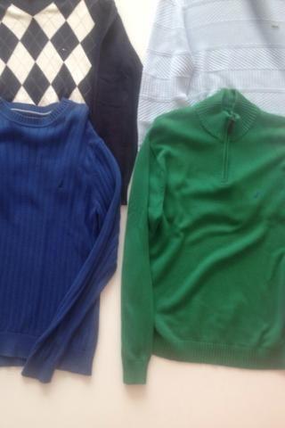 0d003f5054df4 VENDO PROMO malhas suéters Blusas de lã masculinas lacoste tommy hilfiger  nautica