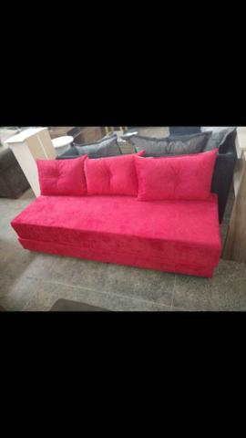 Sofá cama Multifuncional c/3 almofadas - Foto 4