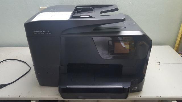 Impressora Multifuncional Hp Officejet Profissional 8715 Com Wi-Fi / 4 Em 1 Bivolt - Preta