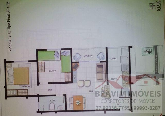 Apartamento com 2 quartos e com vaga coberta - Foto 4