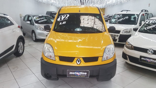 Renault Kangoo Express 1.6 Flex 2012 Amarela Porta Lateral Únido Dono Doc OK - Foto 6