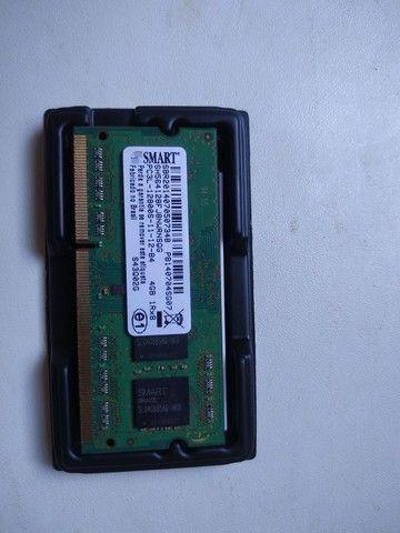 Memória RAM 4Gb + Leitor de CD e DVD interno para notebook - Foto 2
