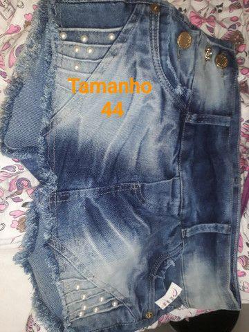 Shorts-Saias jeans todos NOVOS.<br>OBSERVE Confecção Pequena. São lindas aproveitem. - Foto 5