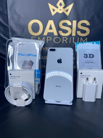 Condição Unica Iphone 8 Plus 64gb Prata Novissimo - Foto 2