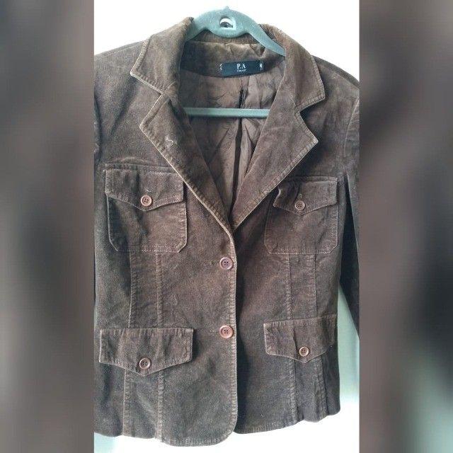 jaqueta feminina de veludo - tam. 38 - Foto 3