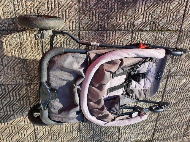 carrinho de bebê - marca abc design - cinza - otimo estado - Foto 6