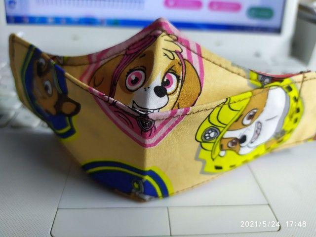 Máscaras 3D triplas com clip nasal - Foto 3