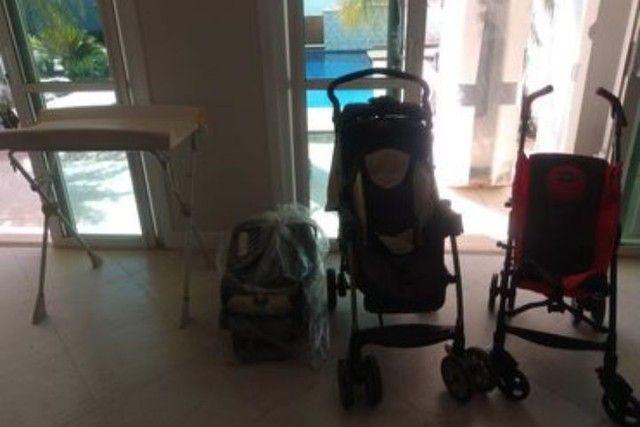 Carrinhos de bebê, suporte p/ banheira e bebê conforto.  - Foto 5