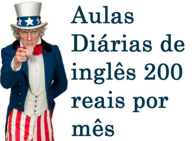 Aulas Diárias de Inglês, 200 reais por mês