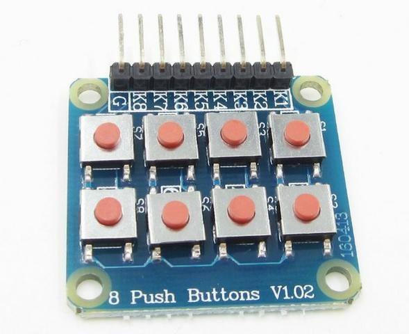 COD-AM237 Módulo Teclado Matricial 2x4 Com 8 Botões Arduino Automação Robotica - Foto 3