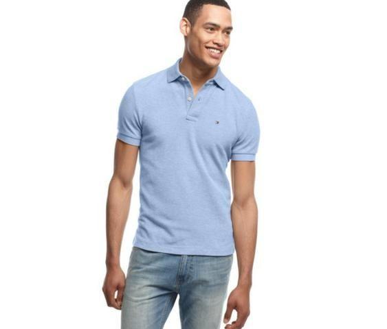 090391e39e8a Camisa Polo Tommy Hilfiger Azul Masculina Original - Eua