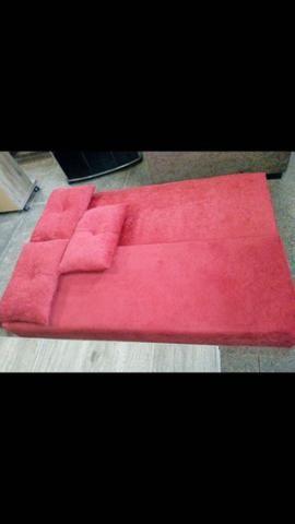 Sofá cama Multifuncional c/3 almofadas - Foto 5