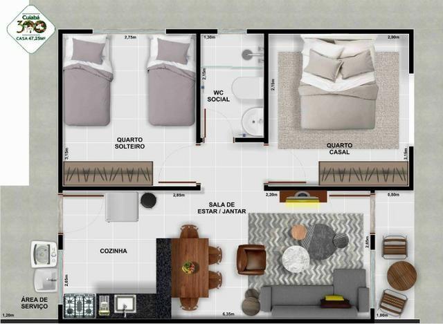 Vendo Casa no Condominio Cuiabá 300 (não perca esta oportunidade) - Foto 8