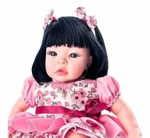 Boneca Estilo Reborn Chora e Balbucia - Foto 2