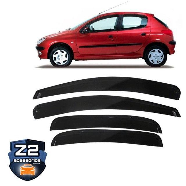 Kit Calha Acrilica Chuva Peugeot 206 207 4 Portas Fumê