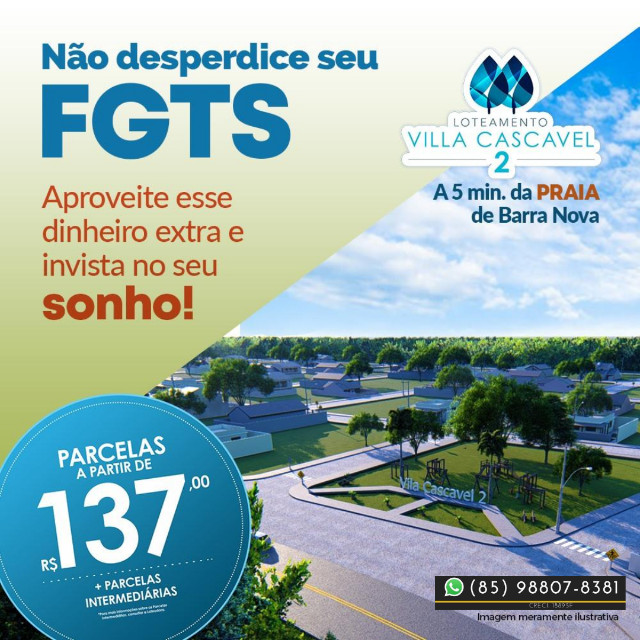 Villa Cascavel 2 no Ceará Lotes (Últimas unidades) !{{{