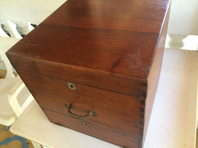 Vitrola Antiga Webster Caixa De Madeira para Restauração / Decoração - Foto 2