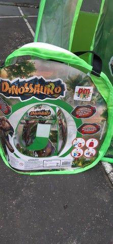 Tenda dinossauros dobrável- medidas: 0.72 x 0.70 x 0.92 cm.- nova. - Foto 2