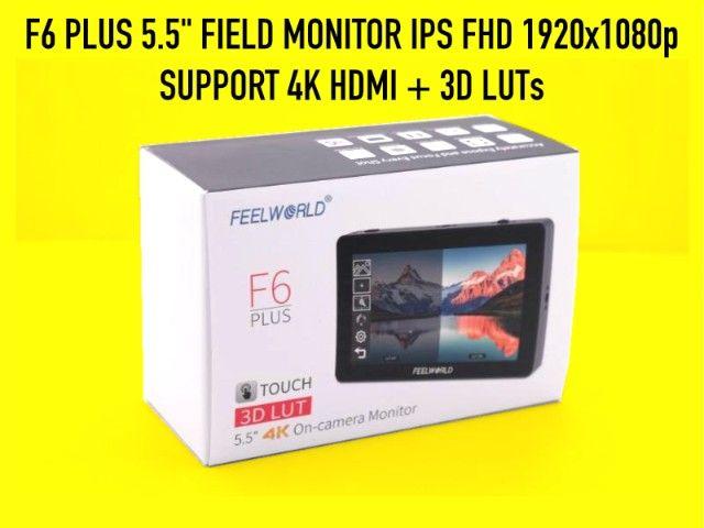 Monitor Feelworld F6 Plus Novo HDMI 4k e tela 1080p