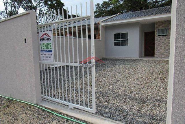 ? Casa nova c/ 2 quartos, ótimo padrão de acabamento R$139.500,00 - Baln. Brandalize